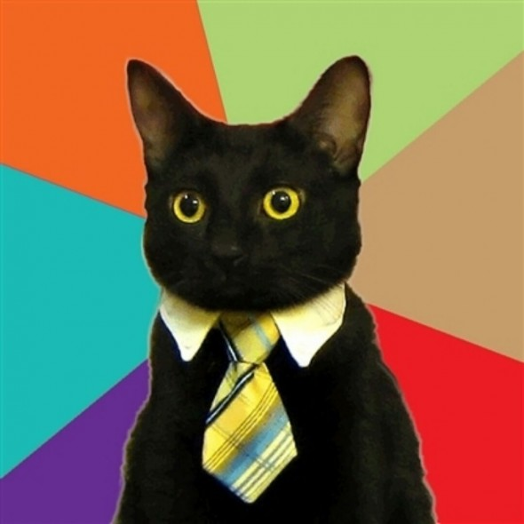 Crear meme de Business Cat