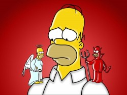 Crear meme de Homer Simpson Angel y Demonio