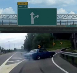 Crear meme de Left Exit 12 Off Ramp